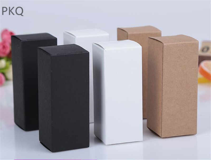 8 sizes Black white Kraft Paper cardboard box Lipstick Cosmetic Perfume Bottle Kraft Paper Box Essential Oil Packaging Box