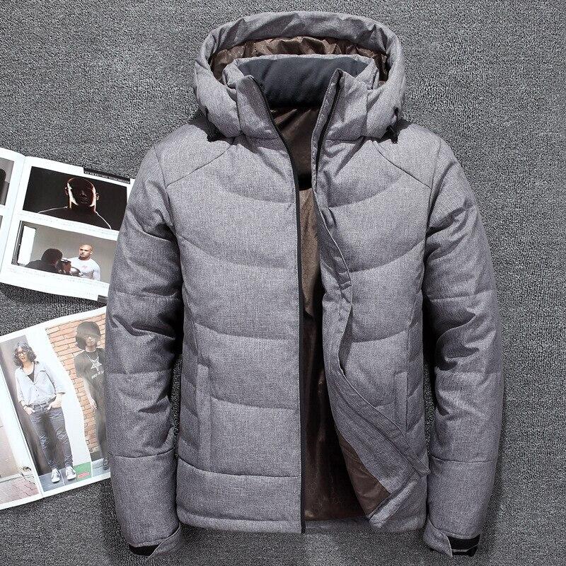 B nouveau imperméable à l'eau blanc canard vers le bas vestes hommes chaud à capuche hommes Parkas d'hiver épais hommes vestes manteau Casaco Masculino