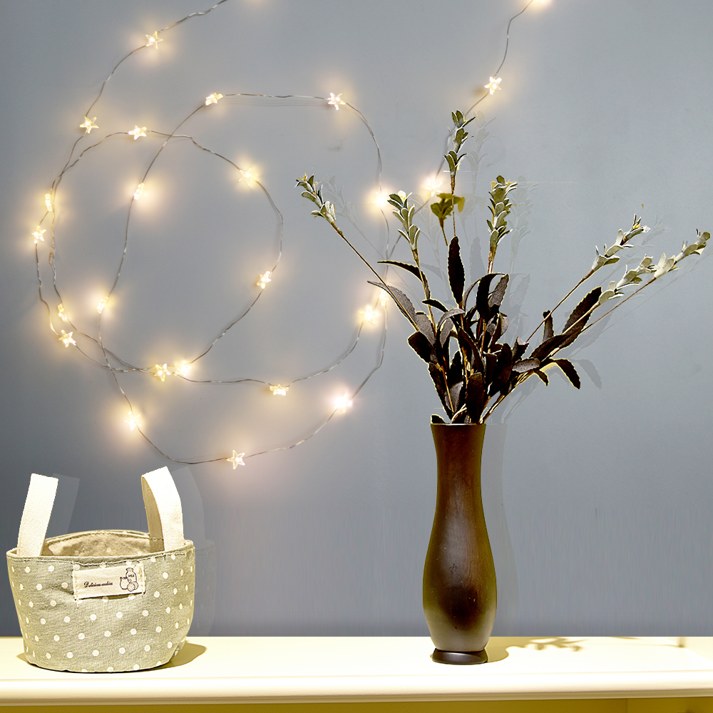 2M/3M LED Star Copper Wire String Lights LED Fairy Lights Christmas ...