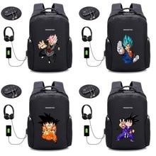 anime Dragon Ball Z backpack USB Charge Computer Backpacks Anti-theft bag student book Bags teenagers Travel backpack 28 style недорго, оригинальная цена