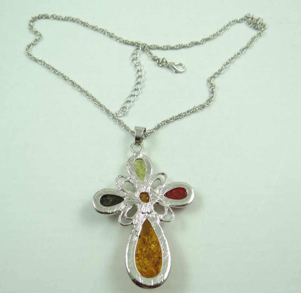 Moda szlachetne modernistycznych teardrop złoty miód wciśnięty Ambers naszyjnik kolczyk biżuteria dokonywanie zestawy darmowa wysyłka A16