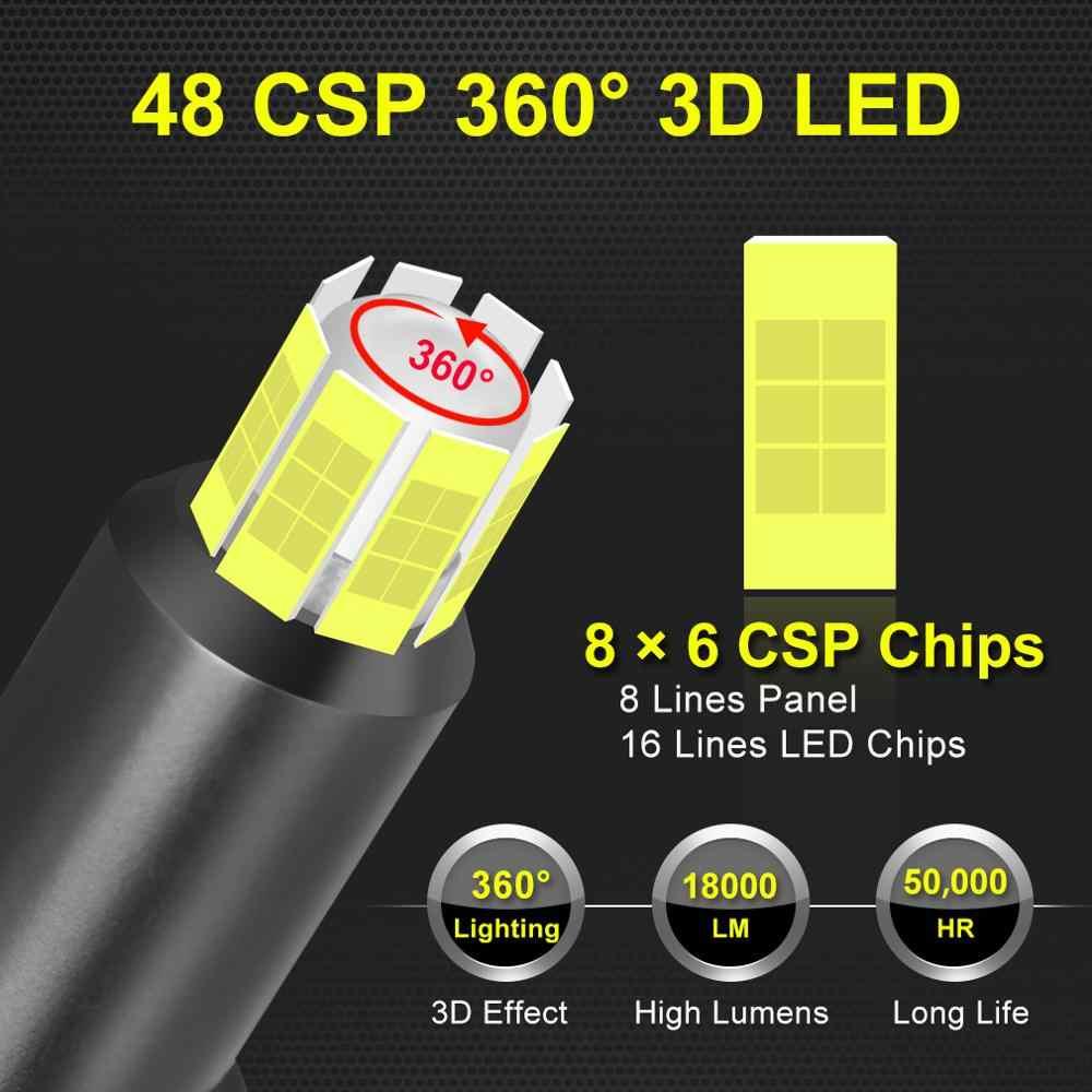 48 CSP 16 הצדדים H11 H7 Led פנסי מכונית נורות 6000 K H8 H1 HB3 9005 HB4 9006 50 W 3D 360 תואר רכב ערפל אורות מנורה אוטומטית