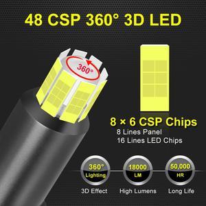 Image 3 - 48 CSP 16 Sides H11 H7 Led Car Headlights Bulbs 6000K H8 H1 HB3 9005 HB4 9006 50W 3D 360 degree Automotive Fog Lights Auto Lamp