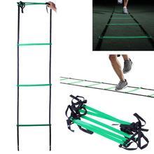 5 pakāpieni 10 pēdu 3m Agility kāpnes futbola un futbola ātruma treniņiem ar pārnēsājamo maisu / fitnesa aprīkojumu