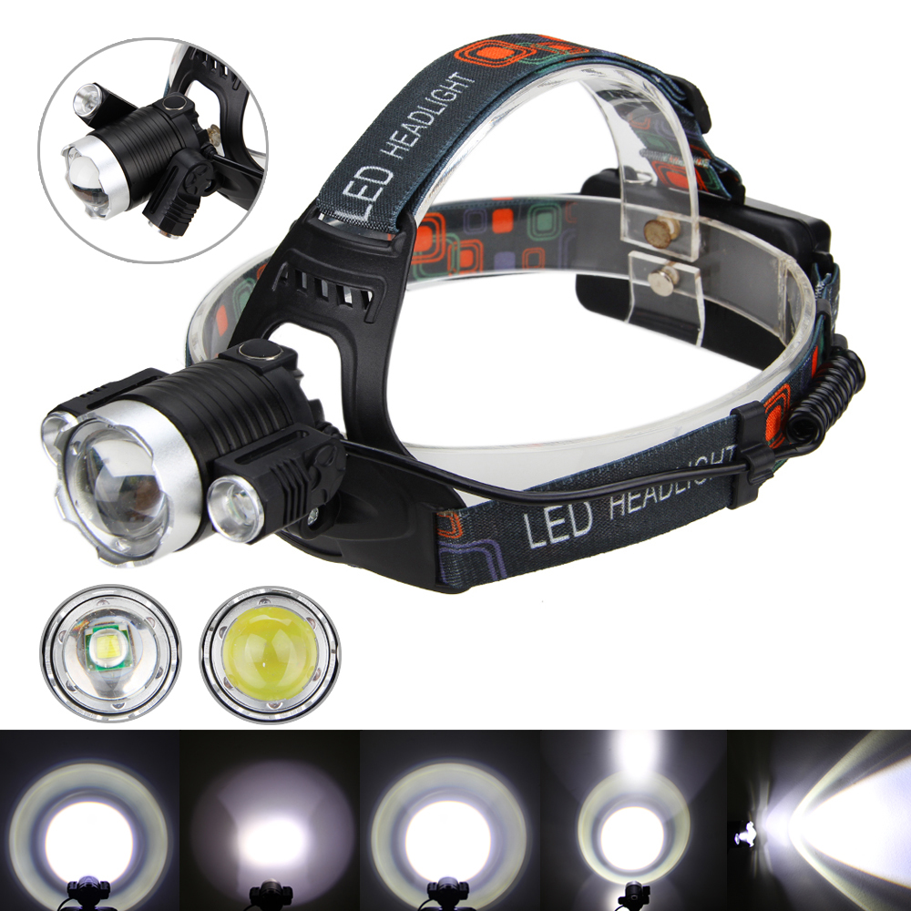 LIGHT WEIGHT Aluminium CREE T6 LED Headtorch Adjustable Headlamp Swivel TORCH