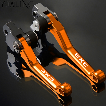 цена на 1Pair CNC Dirt Bike Pivot Brake Clutch Levers For KTM 125 200 250 300 400 450 500 530 EXC Motorcycle Motorbike Brakes Handbrake