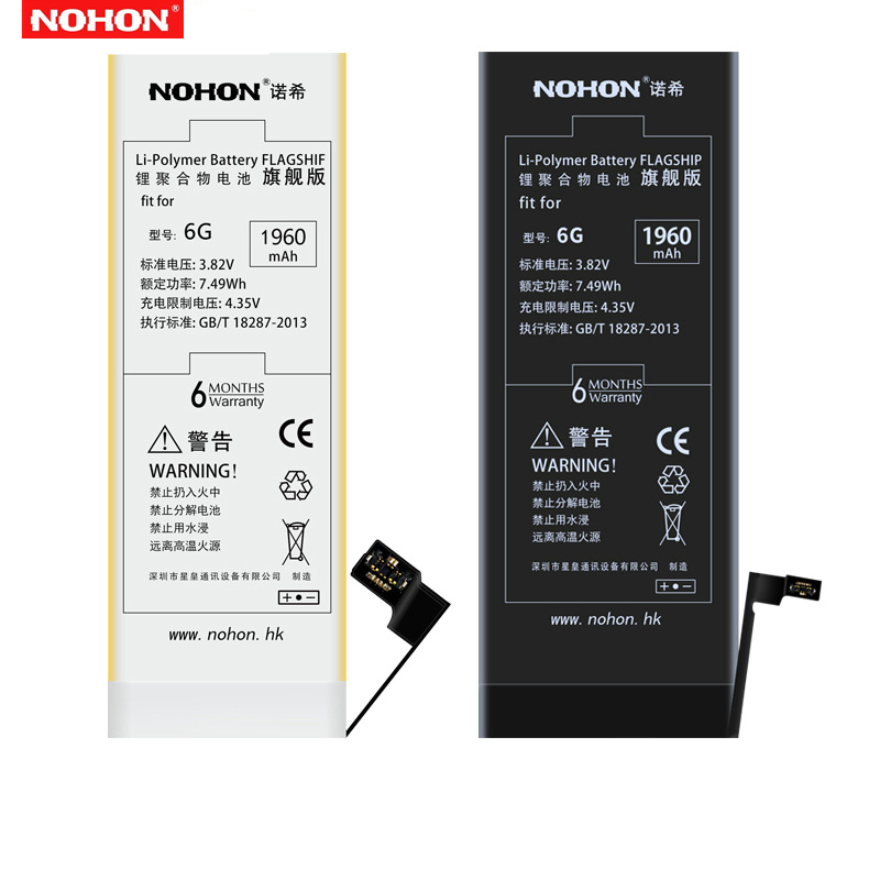 Original NOHON For Apple iPhone 6 6S Plus 6SPlus iPhone6 eplacement Battery High Capacity Bateria + Free Tools image