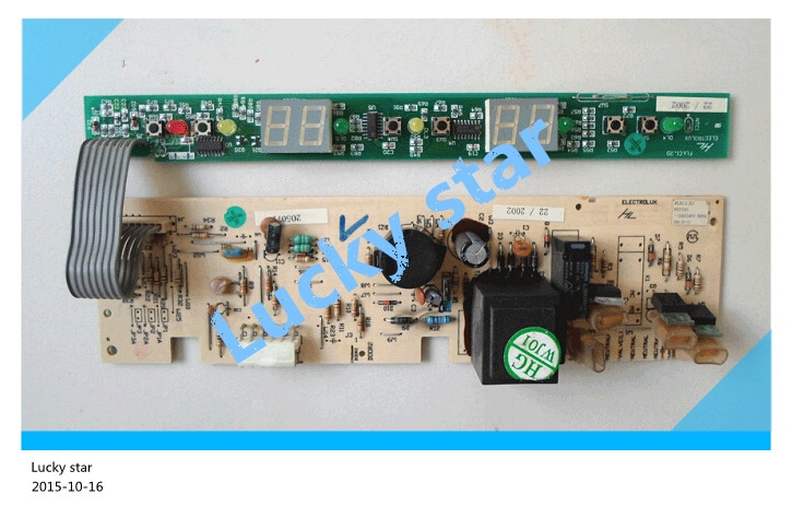 95% new for Electrolux refrigerator computer board circuit board BCD-206E/190E FLEC1.2D board good working 2pcs/set