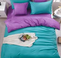 Free Shipping 43 Blue 4pcs Solid Color Bedding Bedding Bag Home Textile 4 Is 1 5