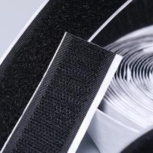 12meters Black White Hook and Loop self Adhesive Fastener Tape Magic Nylon Sticker Loop Disks Velcros with Glue 16/20/25/30/50mm