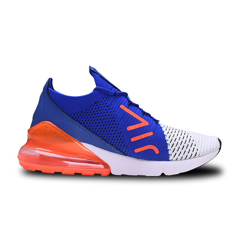258724abdf2c Nike Air Max 270 Cushion Sneakers Sport Flyknit Running Shoes Classic Blue Orange  Black AO1023 101 for Men 40 45-in Running Shoes from Sports ...