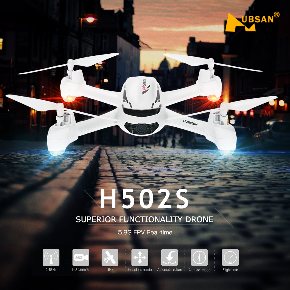 Hubsan H502S X4 FPV Drone con HD de vídeo en directo de la Cámara GPS RC sin cabeza RC Quadcopter helicóptero RTF de vídeo en tiempo Real Me sigue