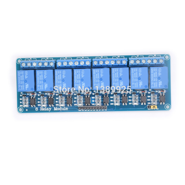 10pcs With optocoupler 8 channel 8 channel relay module relay control panel PLC relay 5V modul