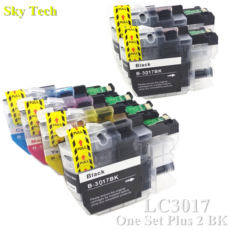 6X Compatible Ink cartridge For LC3017 XL LC 3017 XL For Brother MFC J5330DW MFC J6530DW