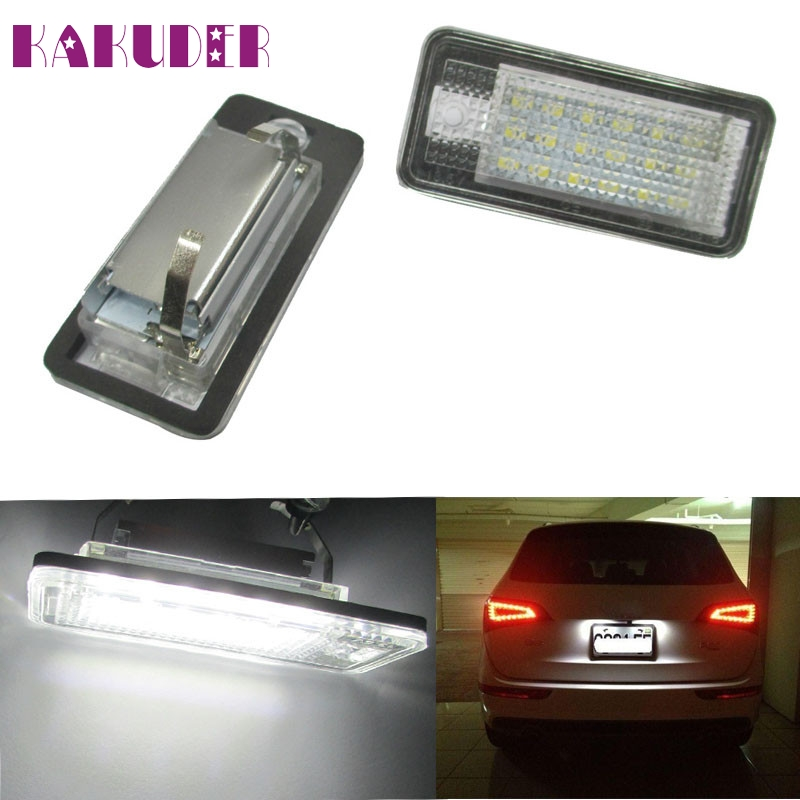 New CAN-bus White Error Free LED License Plate Light Lamp For Audi A3 A4 A6 S6 A8 Q7 SEP 16 smaart v 7 new license