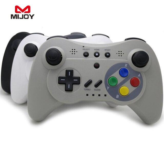 MIJOY Bluetooth controle Sem Fio Wii U Controller PRO Para Nintendo Gamepad Joystick Sem Fio Bluetooth Para Wii U Jogo Clássico