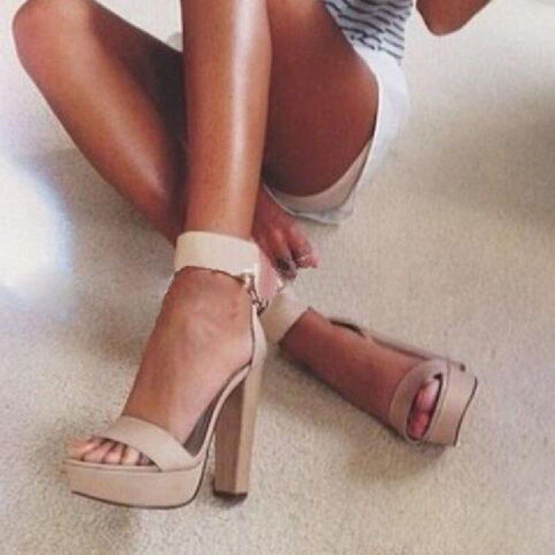 High qualityWomen Suede Ankle Buckle Strap Open Peep Toe Sandals Elegant Female Summer Square Heel Dress Party Gladiator Sandal цена