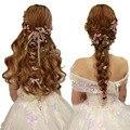 Nupcial de la boda accesorios para el cabello Joyería del pelo Pelo de Las Mujeres de dama de Honor del banquete de boda flores horquilla Horquillas de Clip de La joyería de la Boda