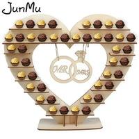 Конфеты подставка для вина Свадебные Украшение стола центральным деревянные сердце шоколад Ferrero Rocher стенд День рождения поставки