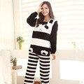 Panda Pijama Feminino Pijama Mujer Primark Pigiama Donna Mujeres de Los Pijamas de Franela Pijamas de Invierno Para Las Mujeres de Invierno de Las Mujeres Conjuntos de Pijamas