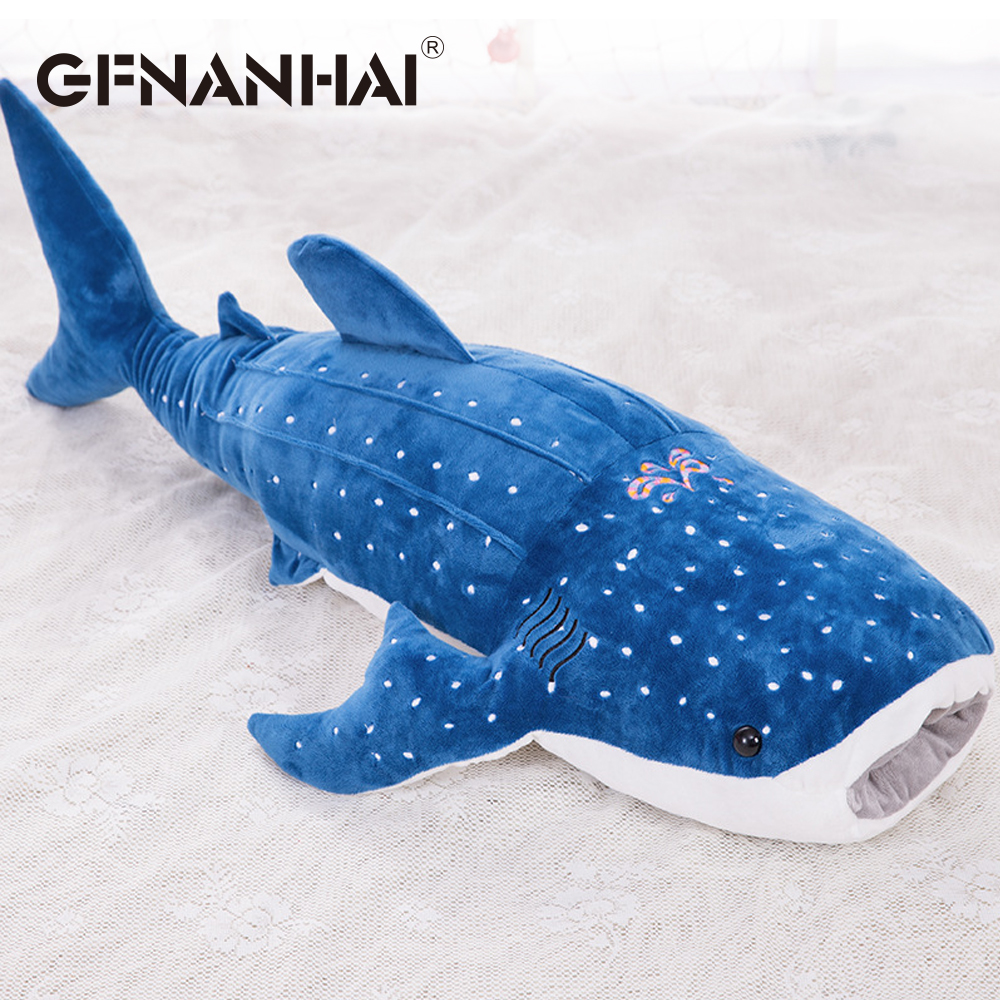 1pc 56cm cartoon simulation <font><b>blue</b></font> shark <font><b>plush</b></font> toy stuffed soft creative animal <font><b>whale</b></font> dolls cushion for children birthday gif image