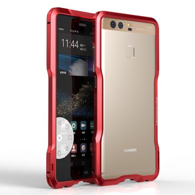 Para huawei ascend p9 caso luphie moda luxo metal bumper quadro casos de telefone para huawei p9 fundas