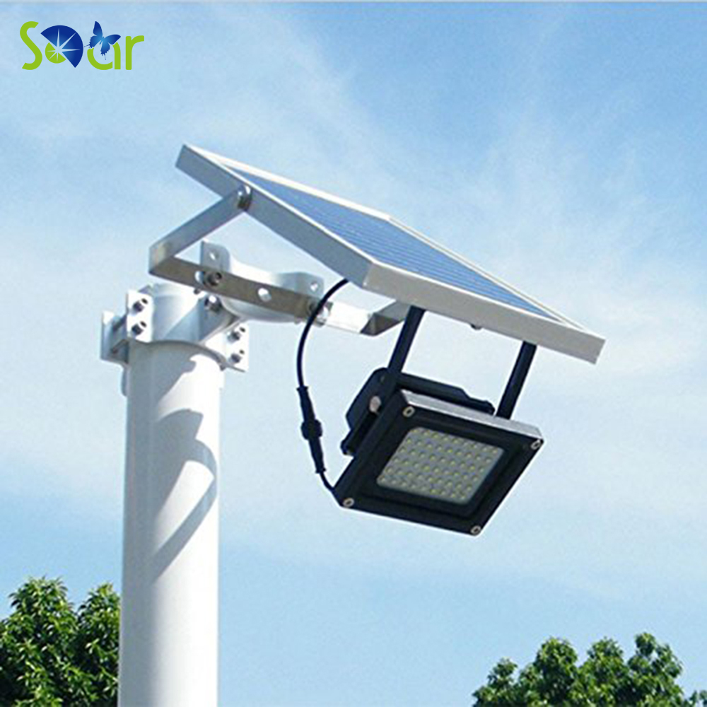 Solar Powered Floodlight/ Spotlight Outdoor Waterproof Security Led flood light Lamp 54led 400 Lumen for Home Garden Lawn Pool free shipping led flood outdoor floodlight 10w 20w 30w pir led flood light with motion sensor spotlight waterproof ac85 265v