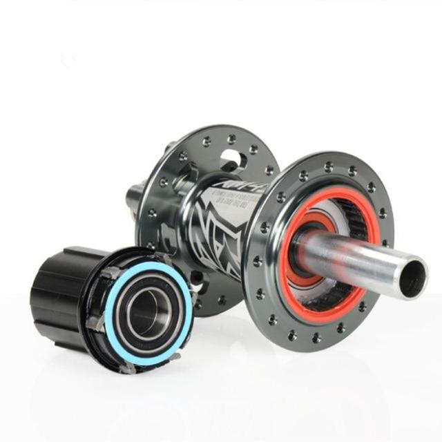 Бесплатная доставка koozer спереди концентратор или сзади концентратора Алюминий велосипед концентратор 2/4 Подшипники MTB 32 отверстия с QR Велосипедный Спорт концентратор с через