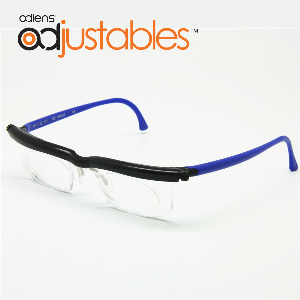 Adlens Focus Adjustable Reading Glasses Myopia Eyeglasses 6D to 3D Diopters Magnifying Variable Strength