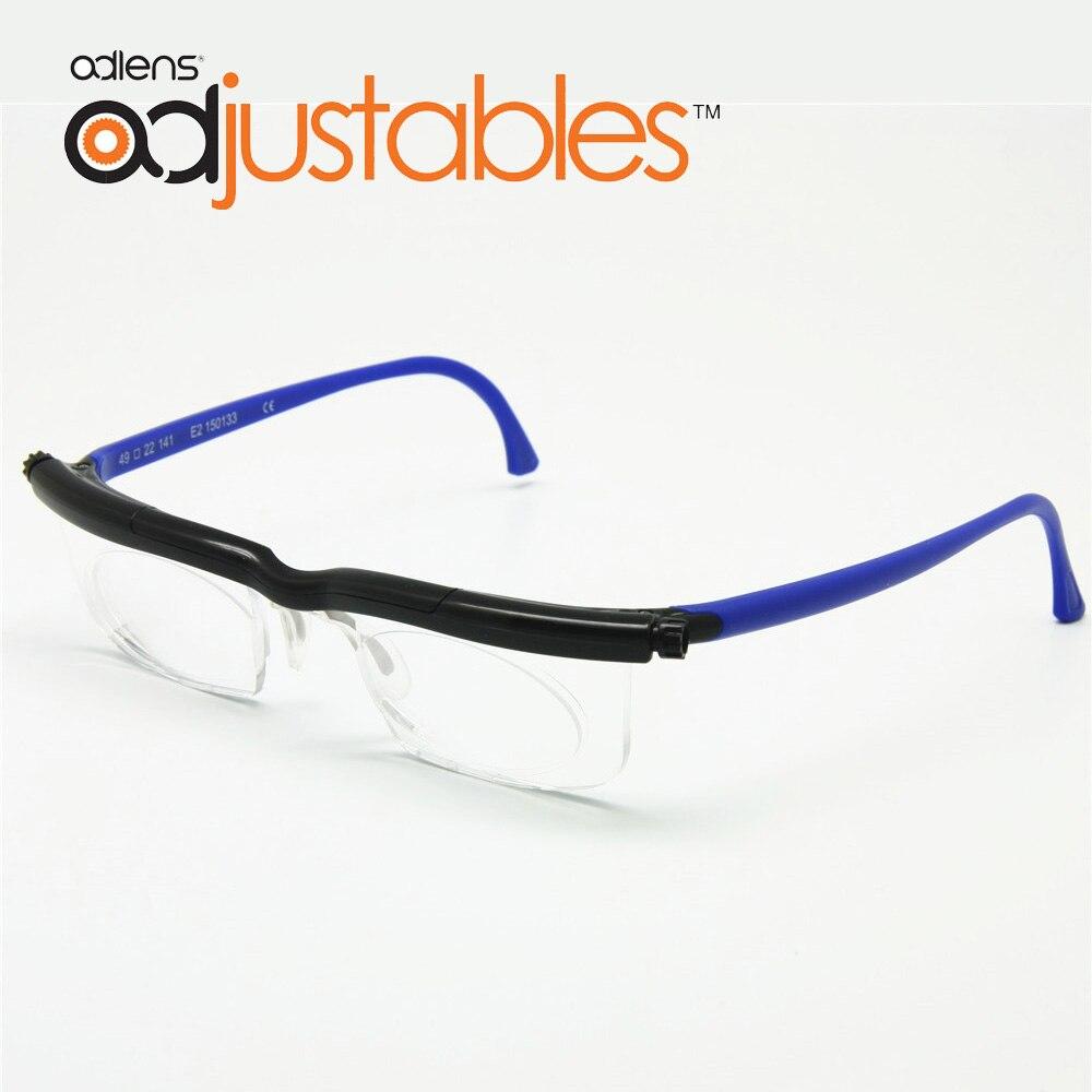 Adlens Fokus Einstellbar Lesebrille Myopie Brillen-6D bis + 3D Dioptrien Vergrößerungs Variable Festigkeit