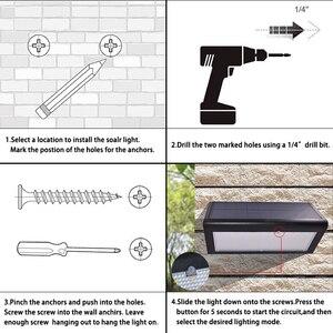 Image 5 - משודרג 4 ב 1 שמש אורות 800lm 46 נוריות אלחוטי אבטחה חיצוני גן מנורת אור עם 4 אינטליגנטי מצבים