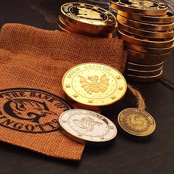 Hogwarts aksesori parti cosplay Gringotts Bank Wizarding COINS - Kostum karnival