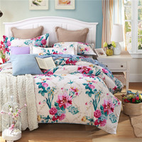 Unihome 100% Cotton Duvet Cover Sets, Print Floral Pattern Design, Full Queen Size HYQC)