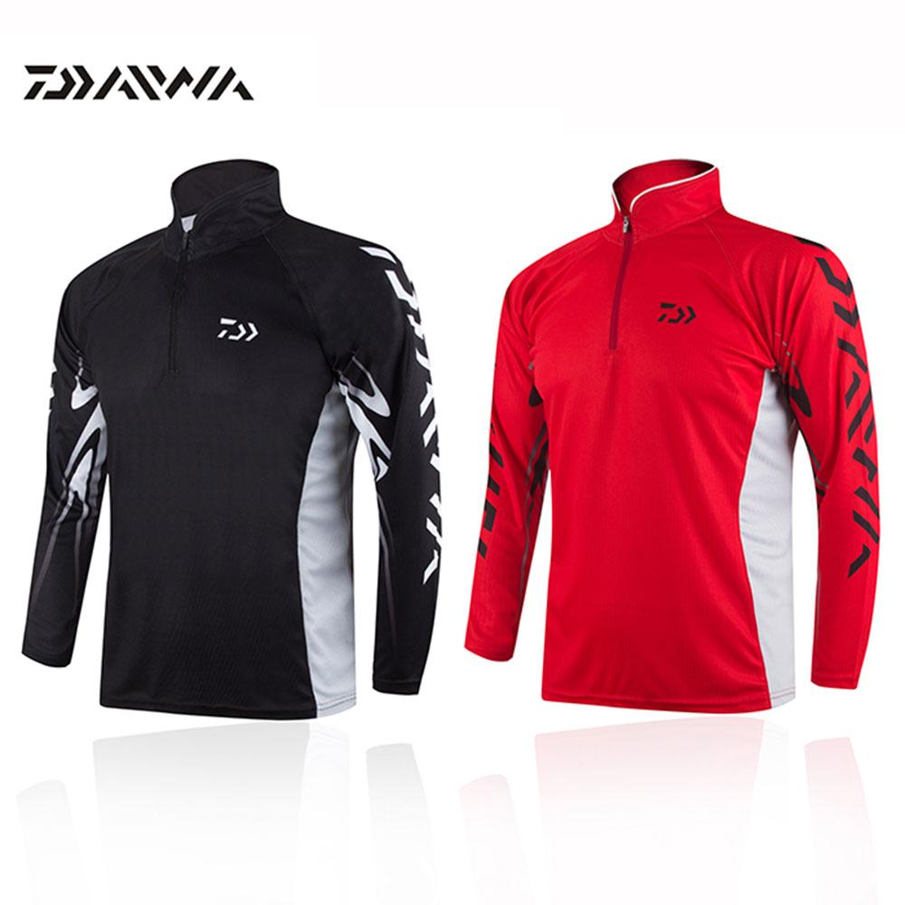 Camisa daiwa clothes for fishing shirt breathable quick for Uv fishing shirts