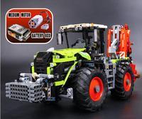 L модели совместимы с Lego l20009 1977 шт. тяжелый трактор Модели Building Наборы Конструкторы Игрушечные лошадки хобби для Обувь для мальчиков Обувь д