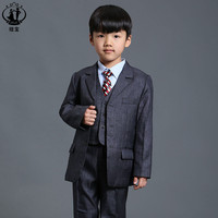 Gray suit for boy Single Breasted Flat Prom Clothes For Wedding Toddler Boy Blazer boys suits for weddings jogging garcon