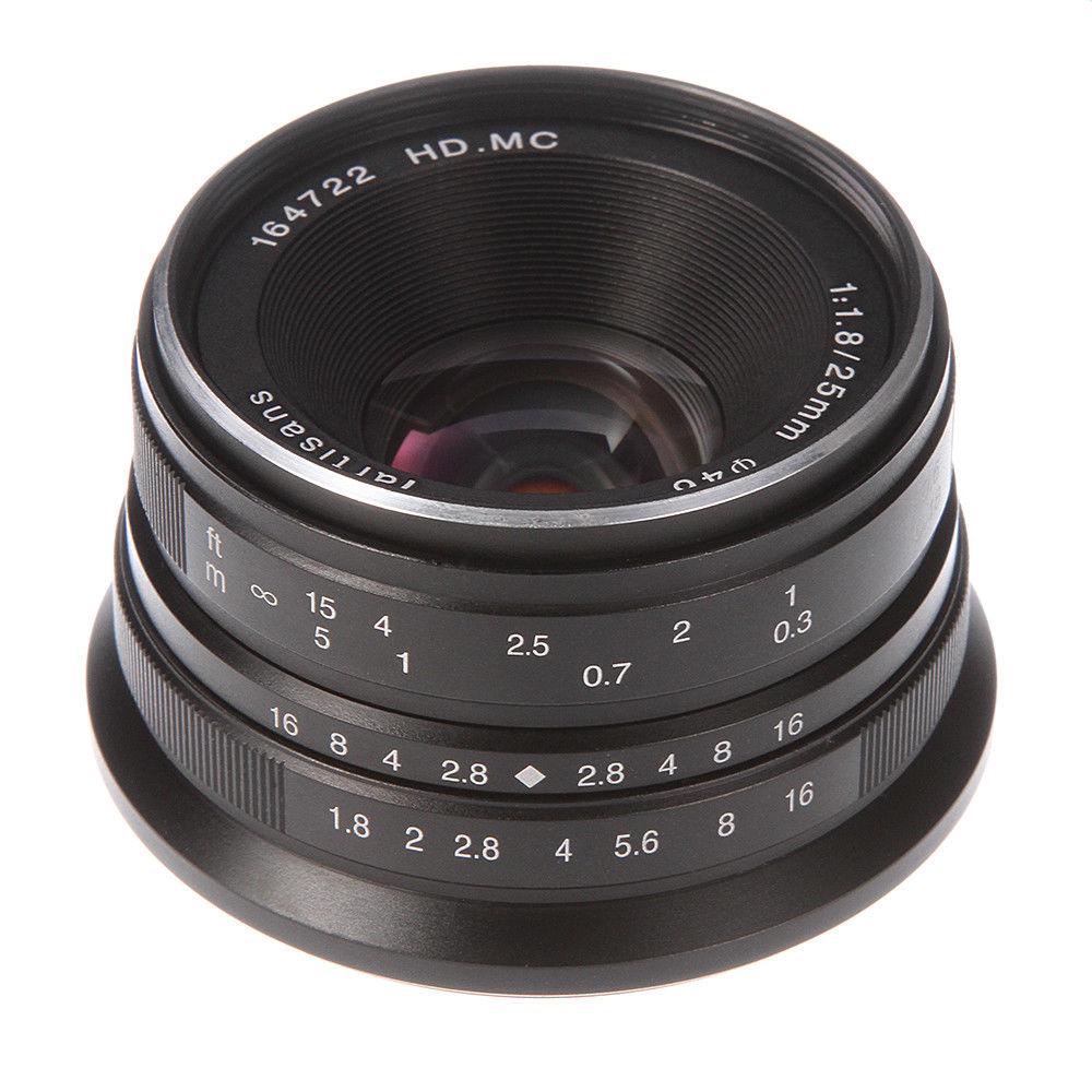 25mm F/1.8 Manual Focus Prime Lens to All Single Series for Panasonic/Olympus M4/3 Mount G1 G2 G3 E-PL1 E-M5 E-M10 Silver/Black holtek all series e writer pro e writerpro programming for mcu encryption verify