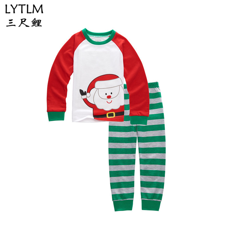 LYTLM Girls Pijama Christmas Pajamas Pijama Infantil Kids Girl Pyjama Enfant Sets Children Pijamas Todder Sleepwear Santa Kitty