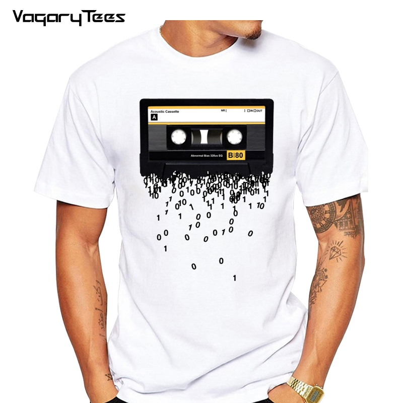 Newest 2019 Funny Retro Cassettes Printed T-Shirt Men's Funny Creative 80's Music The Death Of The Cassette Tape Tshirt