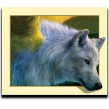 цена на Square diy diamond drawing sets decorative animals painting diamond kit cross stitch diamond crystal full Wolf
