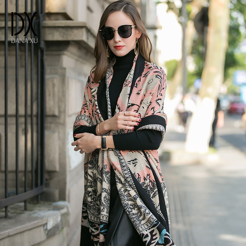 2019 Women Winter Cashmere Pashmina Shawls Fashion Boho Style Plaid Thick Warm Blanket Poncho Feminino Inverno Scarves Stoles