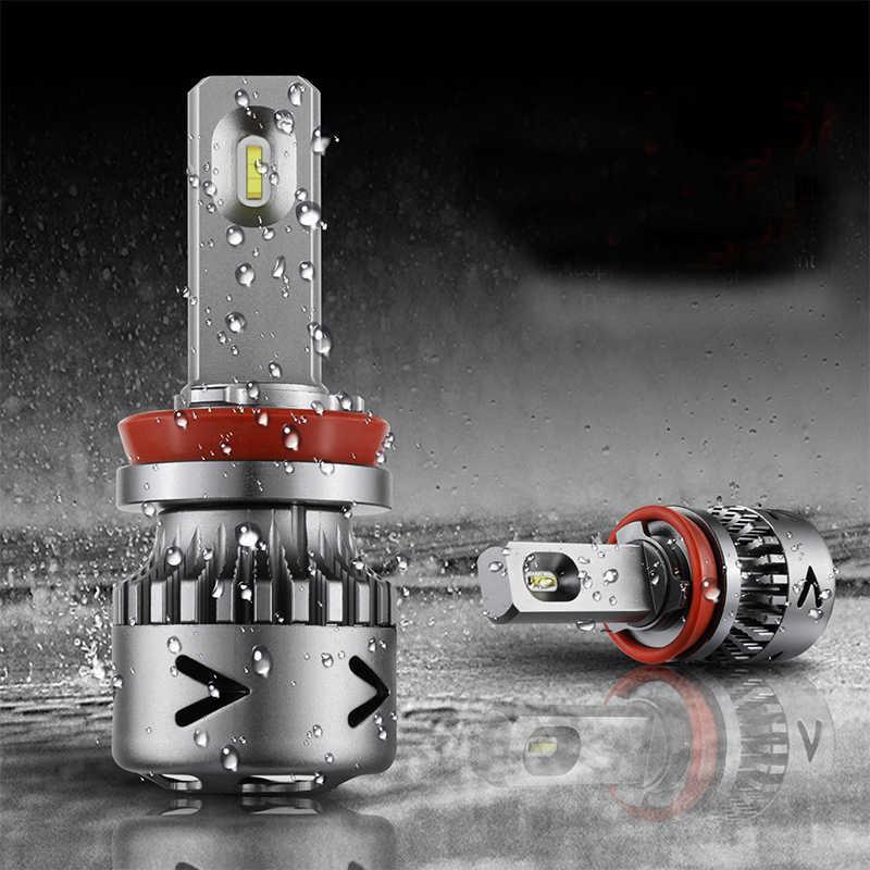 2PCS V11 IP65 Fog Lamps Car Headlight Kit Waterproof 6000k Car LED Headlights White H1 H4 H7 H11 H13  9006