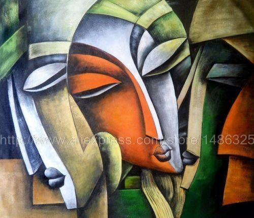 Modern Indian Oil On Canvas Painting Abstract And