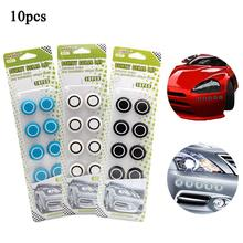 10 PCS Car Anti-collision Strips Dots Decorative Styling Mouldings Stickers Universal For All Cars