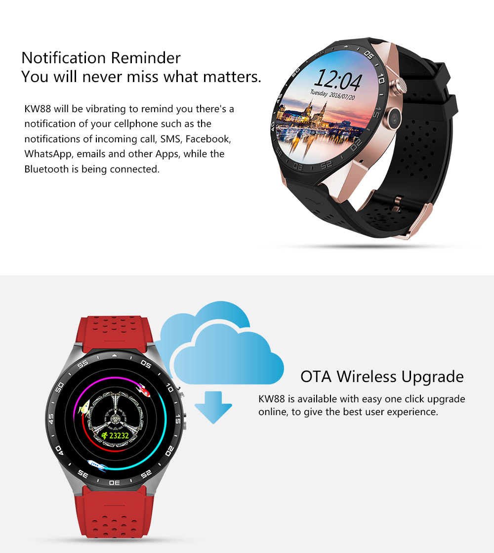 Kaimorui KW88 Smart Watch Android/ IOS Kaimorui KW88 Smart Watch Android/ IOS HTB11nXoSFXXXXcOaXXXq6xXFXXXJ