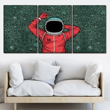 Canvas Wall Art Picture Home Decor 3 Pieces Artistic Abstract Astronaut Paintings Modern HD Printing Type Poster Framework