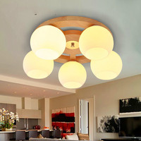 Nordic Japanese wood led ceiling lamp wood art living room lamp logs glass study hall bedroom ceiling lights LU8231337