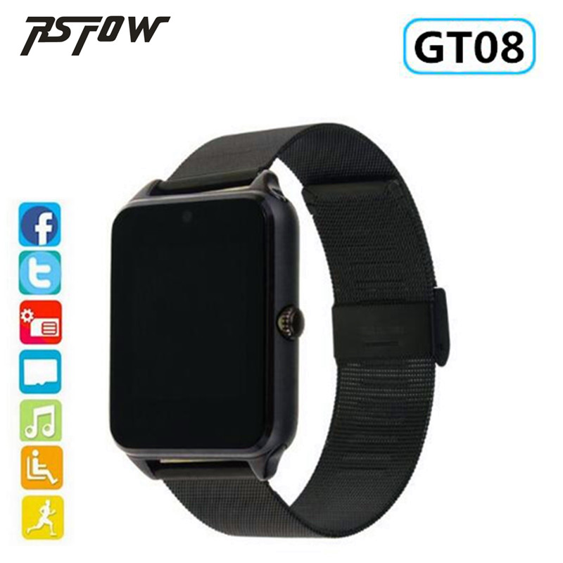 RsFow Z60 Smart Watch GT08 Plus Metal Clock Bluetooth Connectivity Android phone Support SIM TF Card Sync Notifier Push Message
