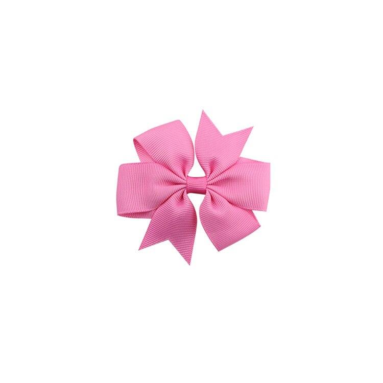 40 цветов сплошная корсажная лента банты заколки шпилька девушка бант для волос, бутик заколки для волос аксессуары для волос - Color: a14 Peach Pink