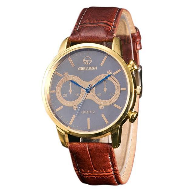 Lowest Price Top Brand Luxury Clock Fashion cheap Men Leather Band Watches Sport Analog Quartz Wrist Watch reloj hombre